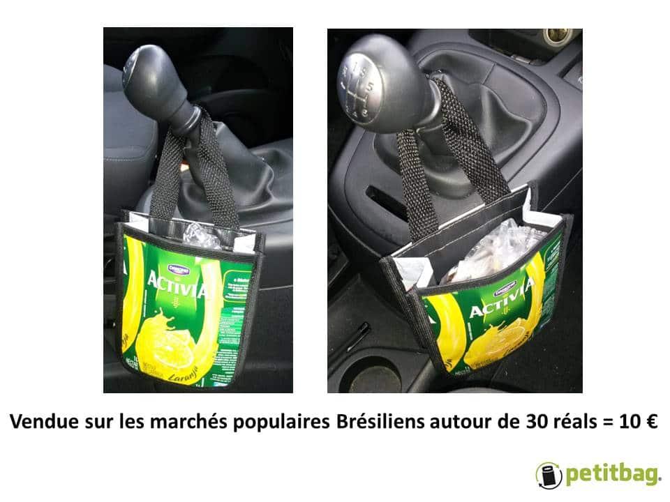 poubelle écologique brésilienne issue du recyclage